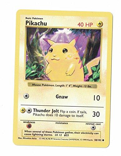 1995 Pikachu Gnaw Pokemon Card 58/102 Rare First Edition Perfect Edges