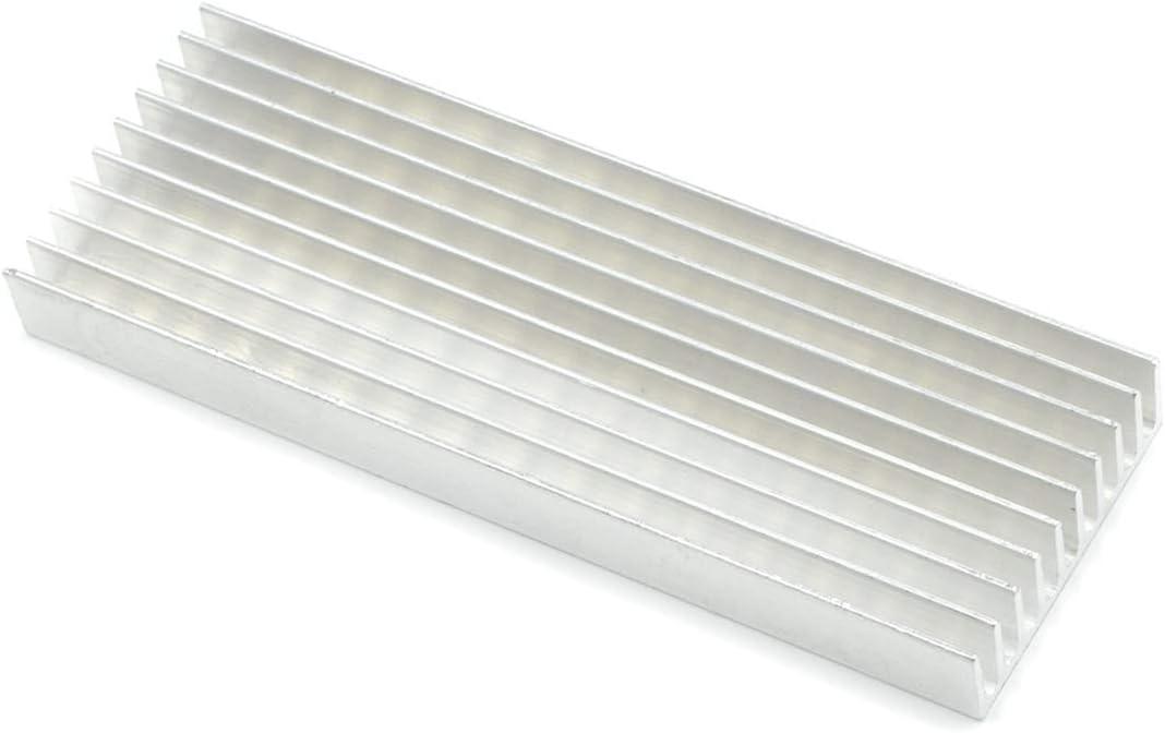 Aluminum Heat Sink Module Cooler Fin Heatsink Mecion 5 Pcs 1003510 mm 3.94 x 1.38 x 0.39 inch