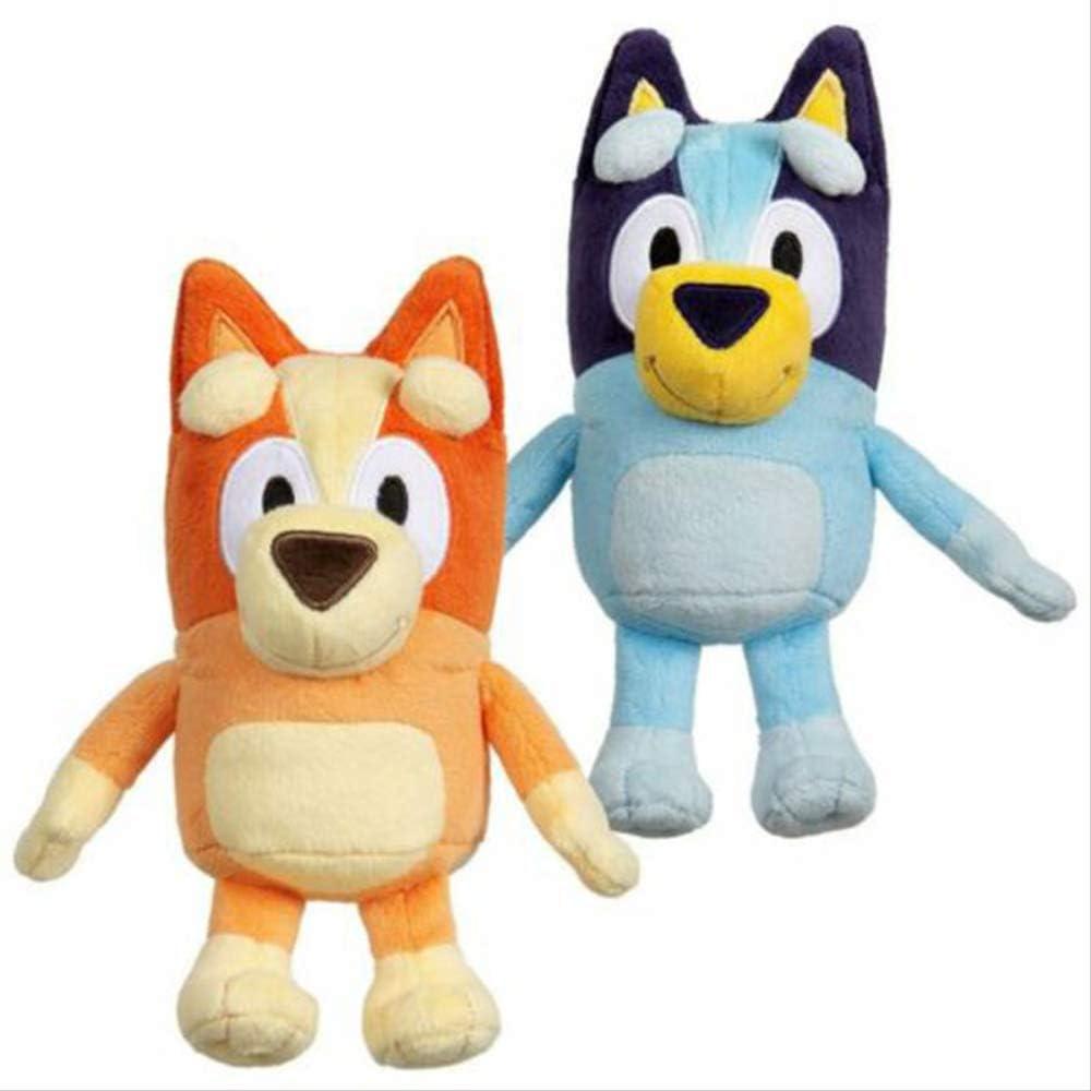 Hope 2 Piezas Best Mate Blueyed Bingo Jumbo Dog Friends TV Plush Movie Christmas Figure Toy-Plush Stuffed Collectible Gift 28cm