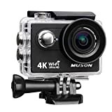 Photo : Muson 4K WIFI Action Camera 2.0'' Screen 12MP F/2.4 170 Degree Wide Angle 30M Waterproof Sports DV With 2.4G Remote Control and 19 Accessories kits