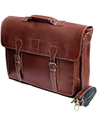18 Large dark Leather bag for men messenger bag shoulder bag mens Laptop Bag office bag cross body bag