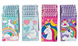 Spiral Notepad – 24-Pack Top Spiral Notebooks, Bulk Mini Spiral Notepads for Journaling, Note Taking, To-do Lists, Lined Paper, 4 Cute Unicorn Designs, 3 x 5 Inches