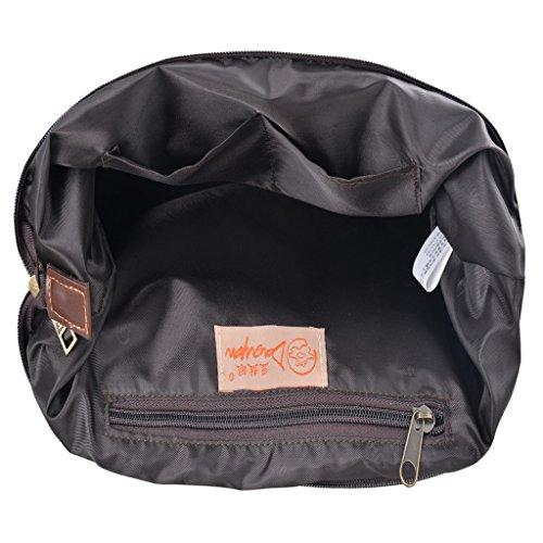Douguyan- Mensajero de Lona para Hombre de escuela bolsa de hombro casual�?E44003 Negro Caqui