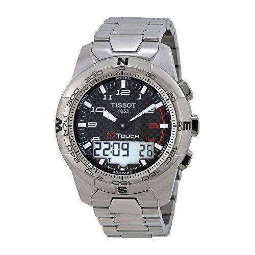 Tissot Men's T0474204420700 T-Touch II Black Chronograph ...