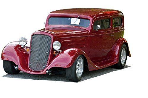 Laminated Poster Restored Shiny Vintage Classic Car Hot Rod Poster Print 24 x ()