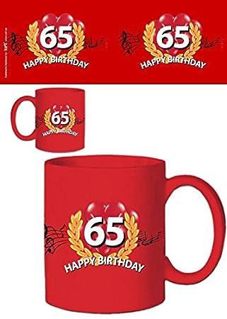 1art1 Cumpleaños - Happy Birthday 65 Años Taza Foto (9 x 8cm ...