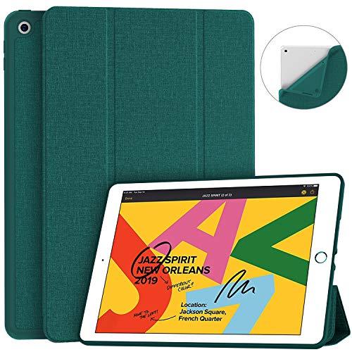 [해외]Soke iPad 7th Generation Case iPad Case 10.2 Inch 2019 Fabric-Like Texture Smart Trifold Stand Shockproof Soft TPU Back CoverAuto SleepWake for New Apple iPad 7th Gen 10.2 Teal / Soke iPad 7th Generation Case iPad Case 10.2 Inch 20...
