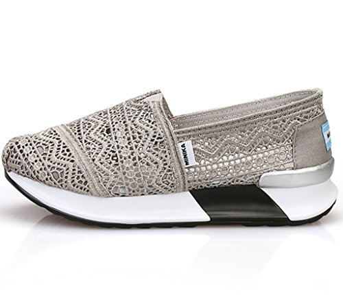 Les femmes antidérapante respirante Slip-on Chaussures Casual 98uc5LW