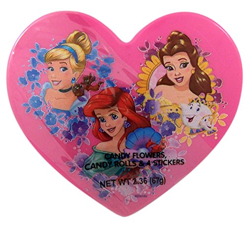Disney Princess Valentines Day Heart Box with Candy Pieces and Stickers, 2.36 (Sale Valentine Hearts)