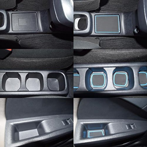 KINMEI Toyota Ractis Ractis P120 system specially designed blue interior door pocket mat drink holder slip non-slip storage space protection rubber mats TOYOTAk-41 by KINMEI (Image #1)