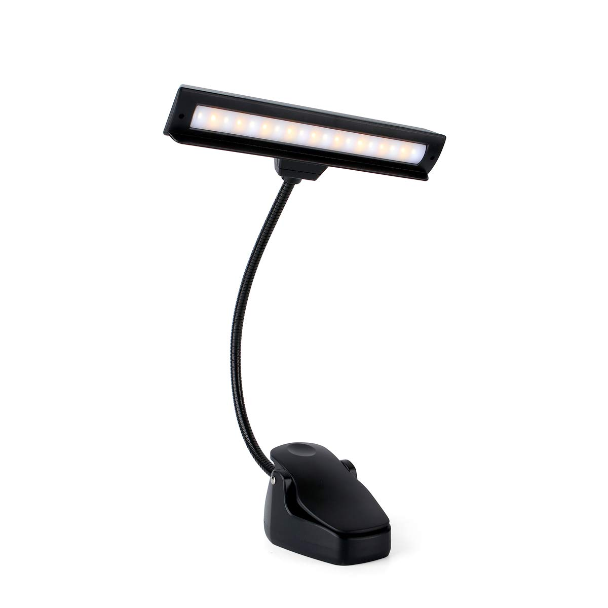 Rechargeable Music Stand Light, 19 LEDs Clip On Reading Light - 3 Level Brightness Settings, 3 Color Temperature Optional (Warm/Cool White/Natural Light Color), Perfect for Piano, Reading, Sewing by Glovion