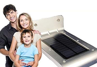 My Solar Led Lights Solar Powered Outdoor Motion Sensor LED Light, Black, Set of 2