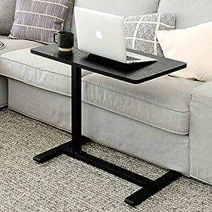 [山善] 昇降式 サイドテーブル 高さ60-95㎝ 4cmの隙間に入る低床キャスター ガス圧昇降 無段階高さ調節 幅70cm