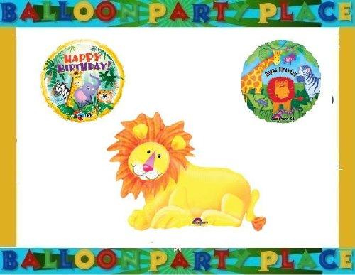 JUNGLE SAFARI animal ELEPHANT giraffe birthday party supplies balloons LION KIT