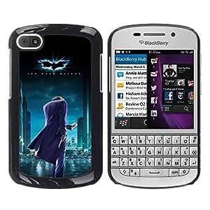 BlackBerry Q10 , Radio-Star - Cáscara Funda Case Caso De Plástico (Bat Superhero)