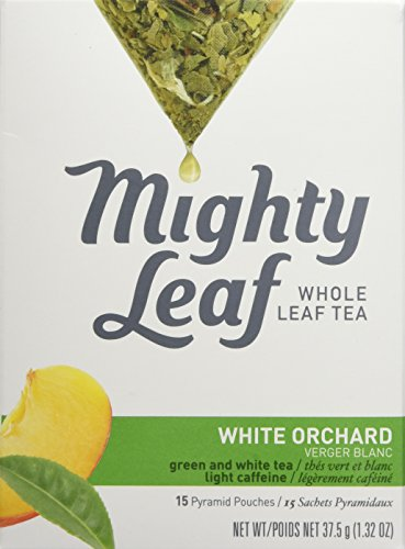 (Mighty Leaf Tea, White Orchard, 15-Count Whole Leaf Pouches 1.32 Oz. (Pack of 3) )