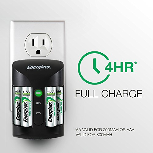 energizer rechargeable aa and aaa battery charger recharge pro with 4 aa nimh rechargeable. Black Bedroom Furniture Sets. Home Design Ideas
