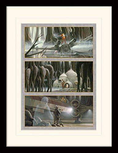 1art1 Star Wars Mission to Dagobah Gerahmtes Poster F/ür Fans Und Sammler 40 x 30 cm