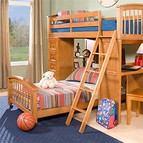 NE Kids School House Twin Lower Student Loft Bed in Pecan