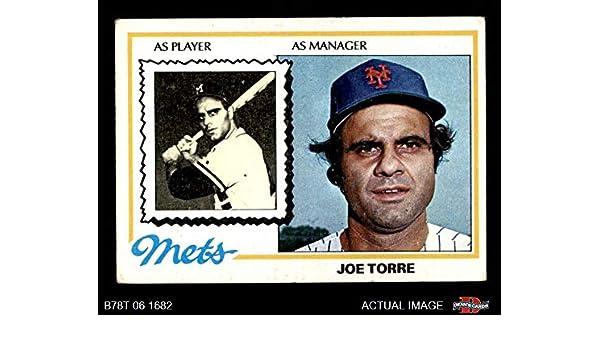 Amazoncom 1978 Topps 109 Joe Torre New York Mets Baseball Card
