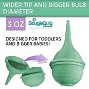 BoogieBulb Baby Nasal Aspirator and Booger Sucker- BPA Free & Hospital Grade Nose Cleaner -3 oz Green Bulb Syringe-Perfect Nose Sucker for Toddlers & Adults- Cleanable & Reusable Ear Syringe