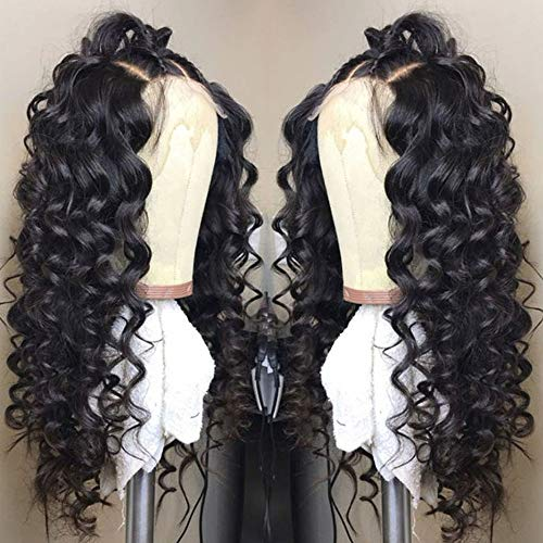 Fureya Hair Long Natural Loose Wave Wigs for Women Glueless Lace Front Wigs Heat Resistant Fiber with Baby Hair Synthetic Lace Wigs 24 inch]()