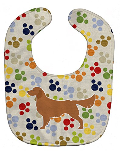 Retriever Print (Caroline's Treasures Pawprints Baby Bib, Golden Retriever, Large)