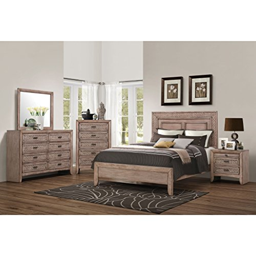 Acme Furniture Ireton Caramel 4-piece Bedroom Set Eastern King (Mobilia Furniture Bedroom Sets)