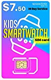 Wireless : Padfender SIM Card for Kids Smart Watch - 3 in 1 SIM Card GSM 2G 3G 4G LTE - Kids Smartwatches and Wearables - 30 Day Service