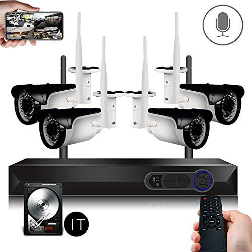 CCTV Surveillance Security System Wireless 4ch 1080P WiFi NVR
