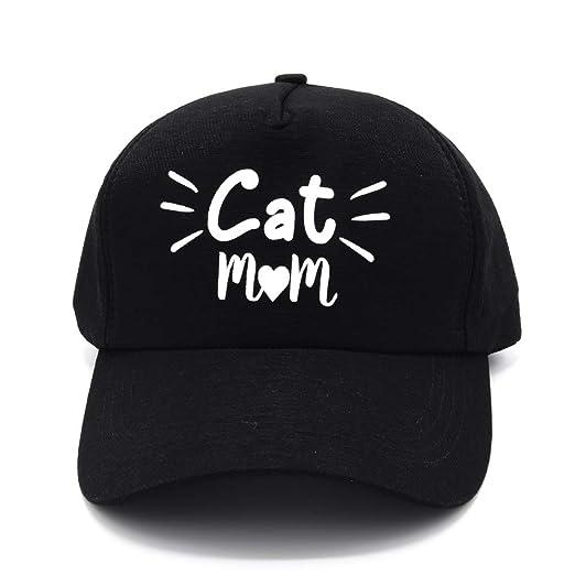 7f14f274f74 PumPumpz Cat mom hat Style Baseball Caps for Moms. (Cat mom Black ...