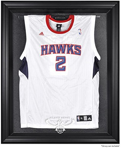 Atlanta Hawks Brown Framed Logo Jersey Display Case - Case Logo Browns Display