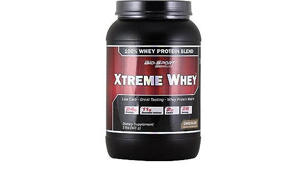 Xtreme Whey (2 Lb.) (908 Grs) Chocolate BioSport USA: Amazon ...