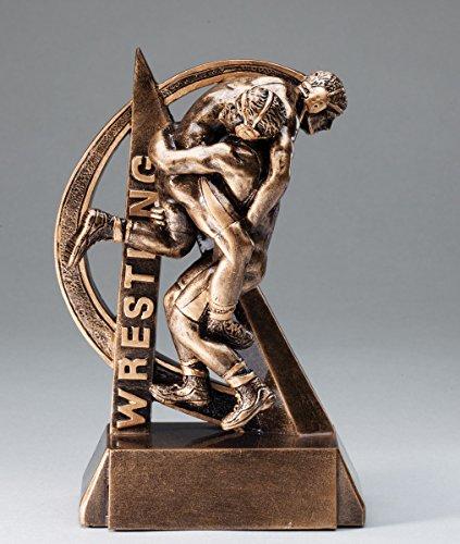 Etch Workz Wrestling Trophy Bronze Finish Resin Base