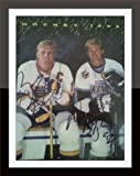 Framed Wayne Gretzky & Brett Hull Autograph on Magazine Cover with Certificate of Authenticity
