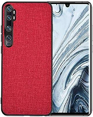 AOYIY Funda Xiaomi Mi Note 10, Xiaomi Mi Note 10 Fundas, Estuche de Silicona híbrida a Prueba de Golpes PU y PC para Xiaomi Mi Note 10 (Rojo): Amazon.es: Electrónica