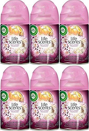 Air Wick Freshmatic Automatic Spray Refill Air Freshener, Life Scents White Flowers, Melon & Vanilla, 6 Refills, 6.17oz ()