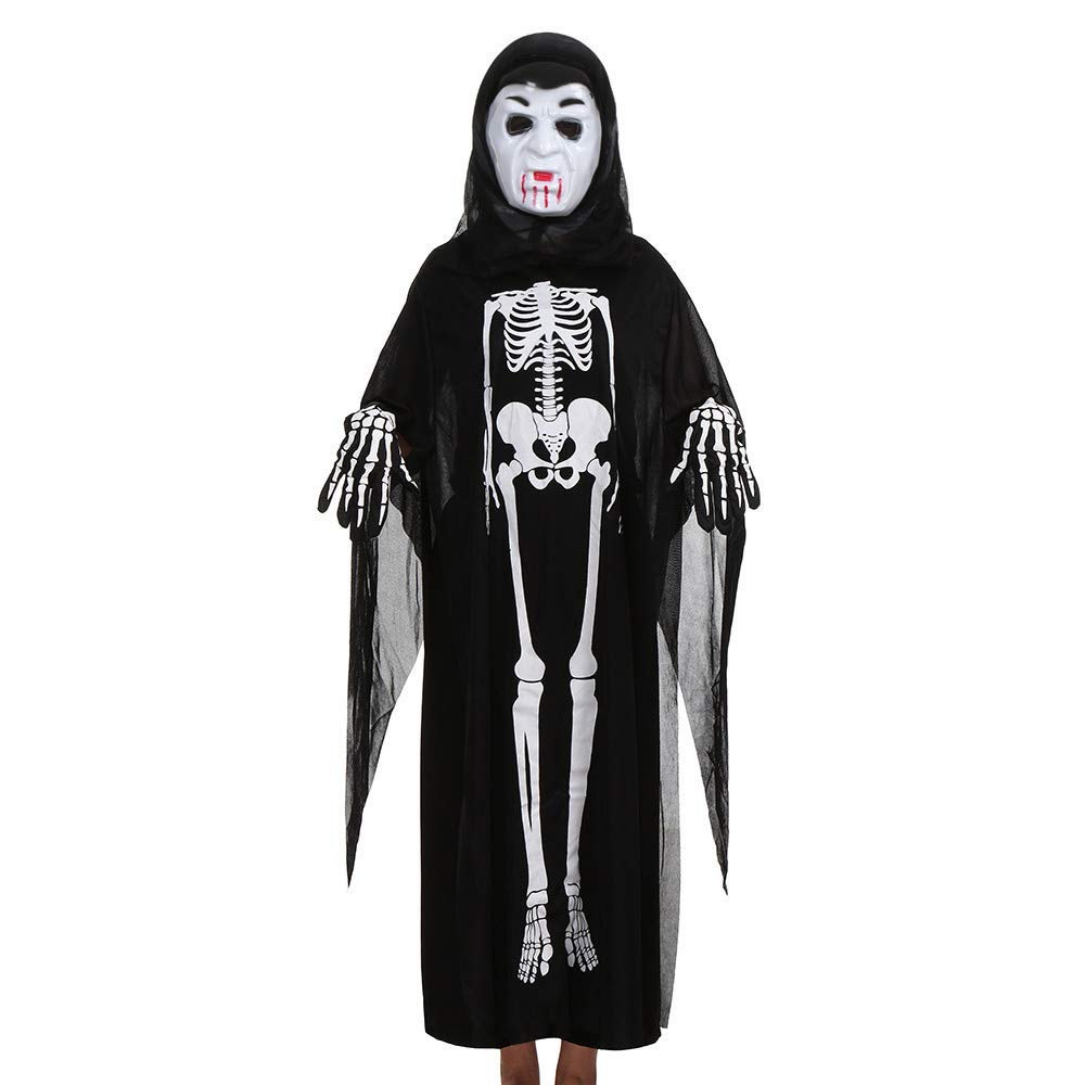 98 104 110 116  Kinder Kostüm Karneval neu Jungen Fasching Skelett Umhang  Gr