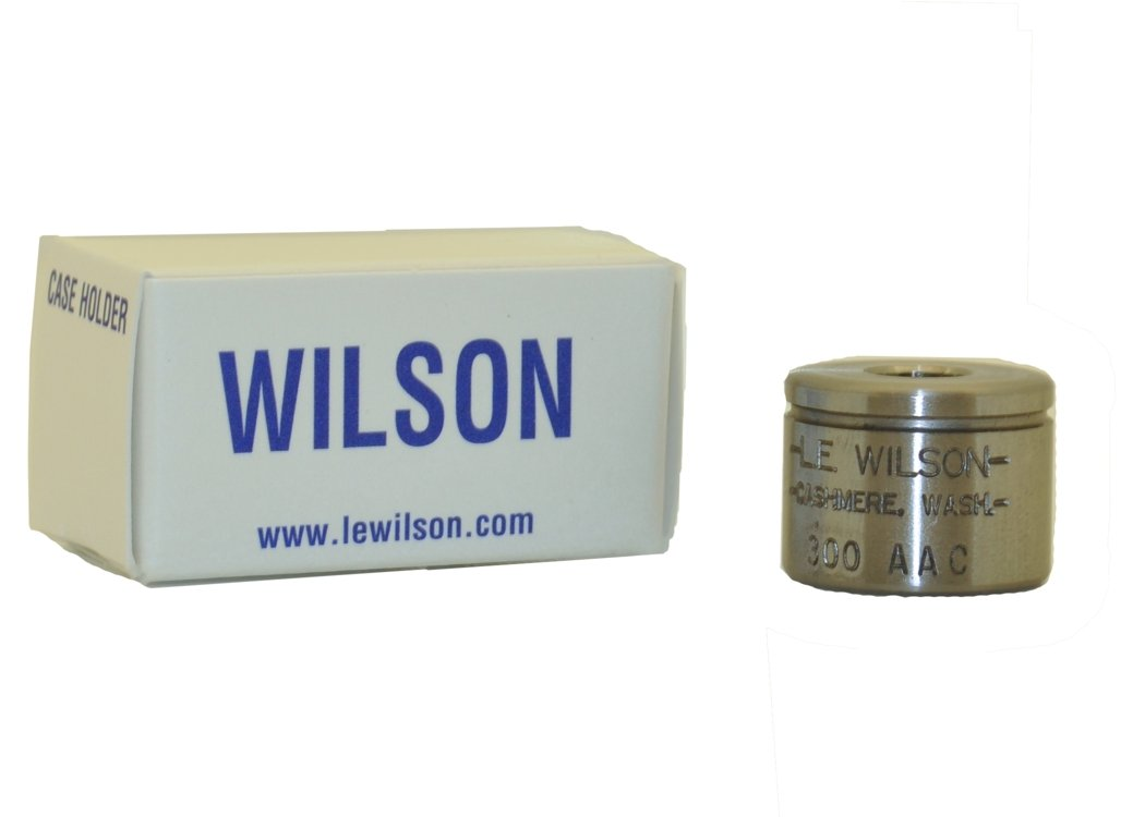 L.E. Wilson CH-3ACC Case Holder for 300 AAC Blackout Trimmer, Polished Steel