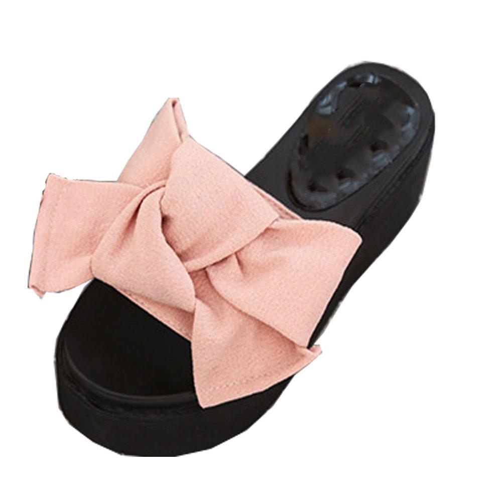 Vinstoken Scarpe da Moda Tacco Sandali Zeppe Donna Tacco Moda Alto Estate Ciabatte Spiaggia 6cm Nero Verde Rosa Rosso 35-39 rosa 73b59c