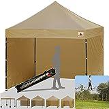 Cheap ABCCANOPY (18+colors 8ft 8ft Ez Pop up Canopy Tent Commercial Instant Gazebos 4 Removable Sides Roller Bag 4x Weight Bag (beige)