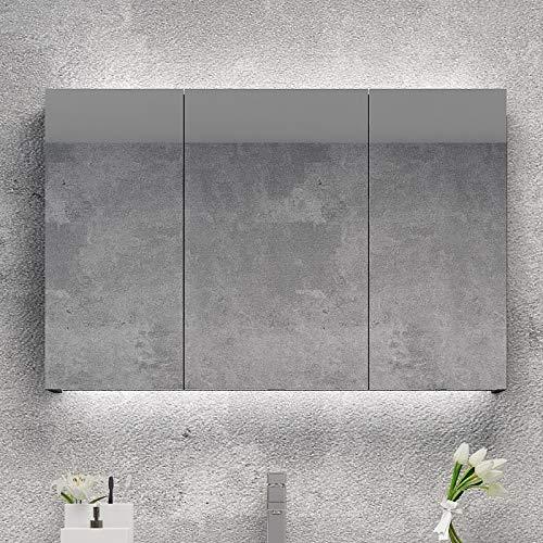 RKRGQ Bathroom Wall Storage Mirror/Bathroom Cabinet with Mirrors/LED Illuminated Bathroom Mirror Cabinet - Cabinet Mirrors Sensor Demister Bathroom Led Illuminated Shaver