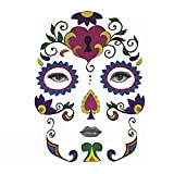Shimigy Halloween Temporary Face Art Waterproof Mask Sugar Skull Tattoo Beauty Sticker (B)