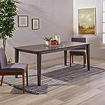 Odelia Rectangular 8 Seat Farmhouse Dining Table, Gray Finish