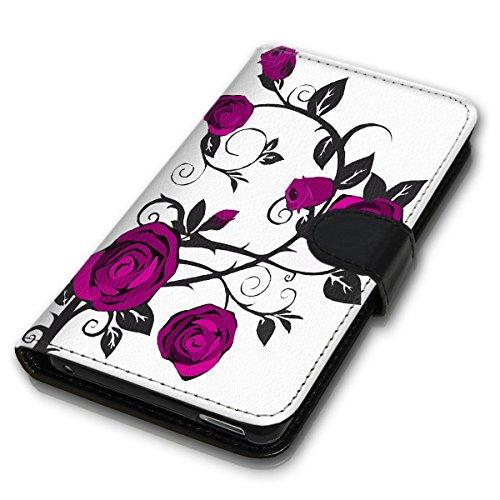 Wallet Book Style Flip Handy Tasche Case Schutz Hülle Schale Motiv Etui für Apple iPhone 6 / 6S - Design Flip MVD277