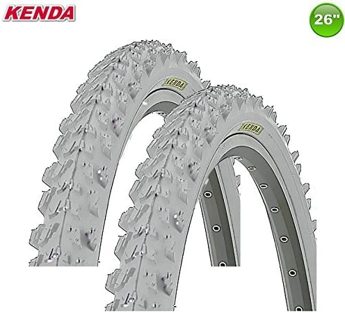 2 X Kenda MTB Neumático de la Bicicleta Cubierta - Color Gris - 26 ...