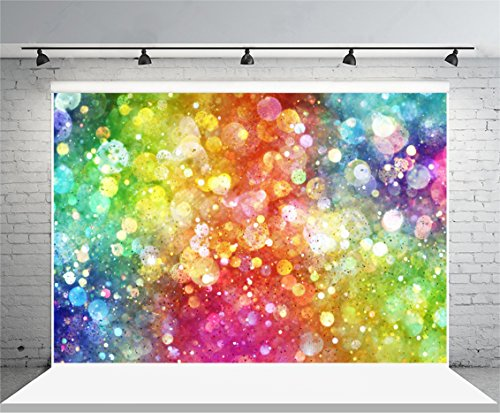 7X5ft Vinyl HD Photography Backdrops Abstract Colorful Halos Dreamlike Art Photo Backgrounds Studio Props Baby Girl Children -