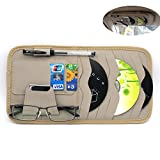 MOTONG Multi-function 8pc CD Sotre Case Credit Card Holder For Auto Vehicle Truck Sun Visor Organizer