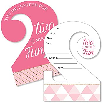 amazon com 2nd birthday party invitations with envelopes 15 count