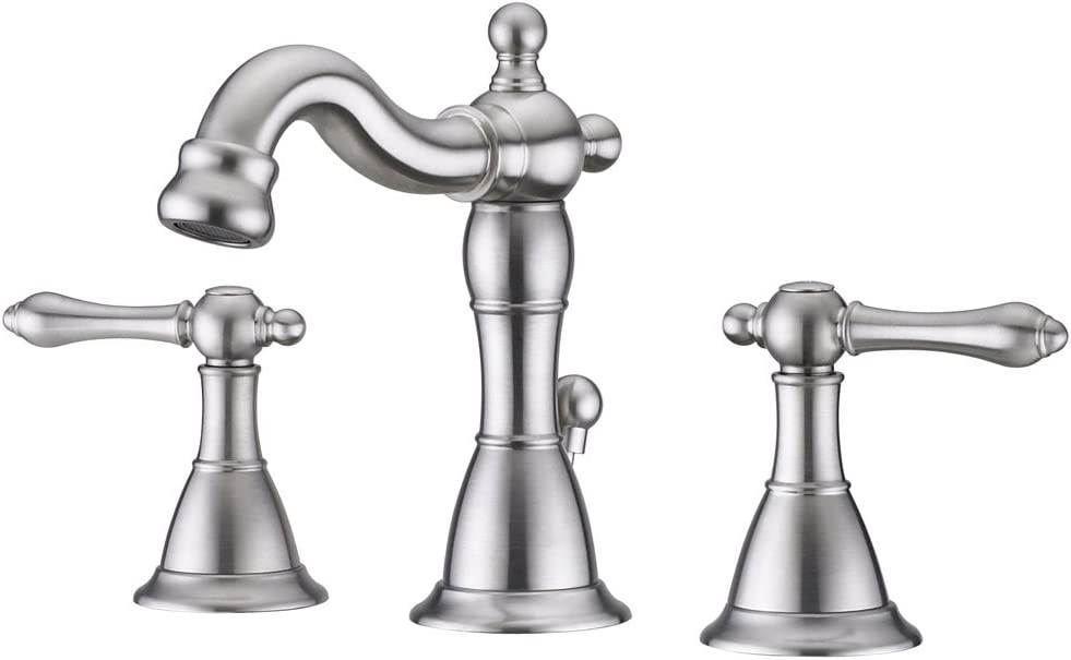 Ultra Faucets UF55213 Prime Collection Widespread Lavatory Faucet, Small, Brushed Nickel